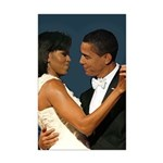 Barack and Michelle Obama Mini Poster Print