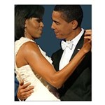 Barack and Michelle Obama Small Poster