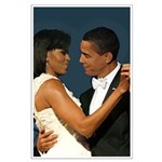 Michelle and Barack Obama Large Poster