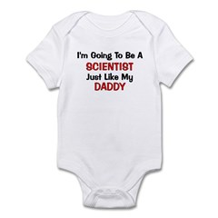 Scientist Daddy Profession Infant Bodysuit
