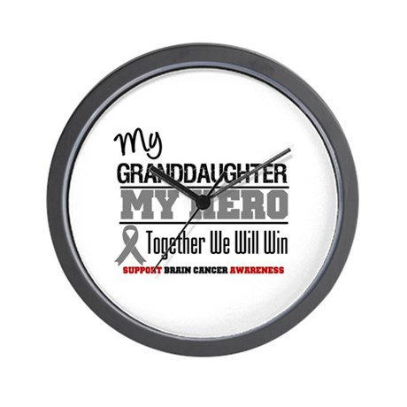 BrainCancerHero Granddaughter Wall Clock