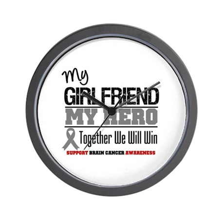 BrainCancerHero Girlfriend Wall Clock