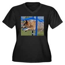 Australian Cattle Dog Women's Plus Size V-Neck Dar