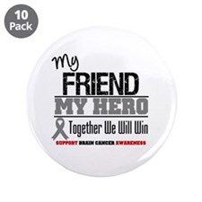"BrainCancerHero Friend 3.5"" Button (10 pack)"