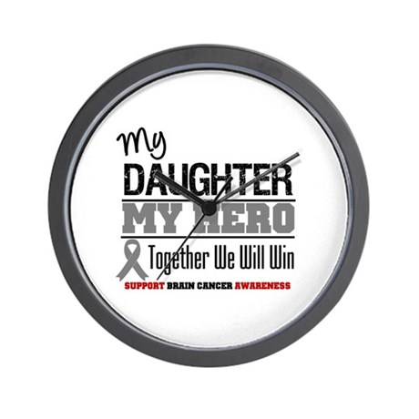 BrainCancerHero Daughter Wall Clock