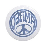Obama - 60's Stamp Ornament (Round)
