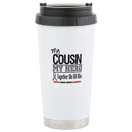 BrainCancerHero Cousin Ceramic Travel Mug