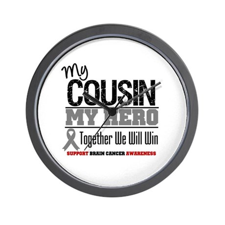 BrainCancerHero Cousin Wall Clock