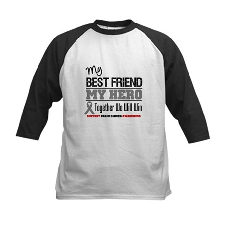 BrainCancerHero BestFriend Kids Baseball Jersey