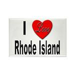 I Love Rhode Island Rectangle Magnet (10 pack)