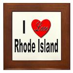 I Love Rhode Island Framed Tile