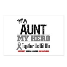 BrainCancerHero Aunt Postcards (Package of 8)