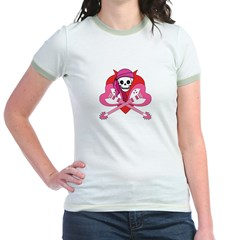 Love Rock Pirate Grrl Jr. Ringer T-Shirt