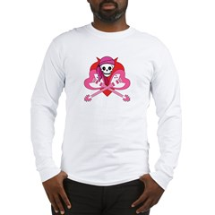 Love Rock Pirate Grrl Long Sleeve T-Shirt
