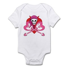 Love Rock Pirate Grrl Infant Bodysuit