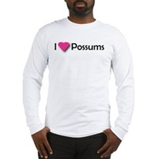 I LUV POSSUMS Long Sleeve T-Shirt