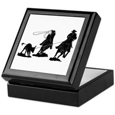 Team Roping Keepsake Box