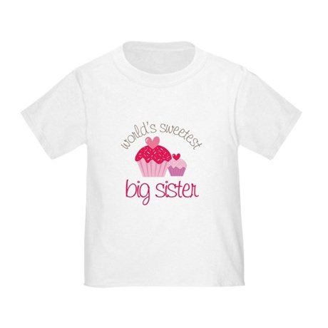 world's sweetest big sister Toddler T-Shirt