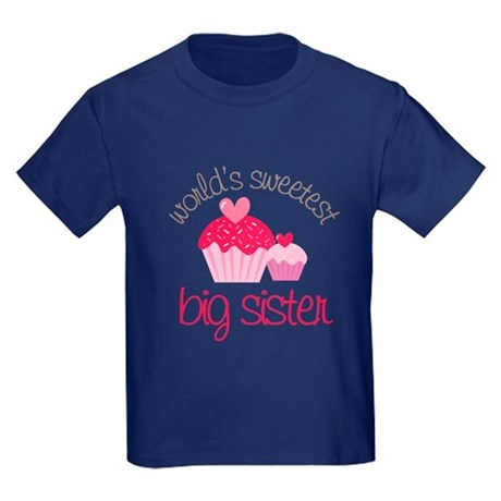world's sweetest big sister Kids Dark T-Shirt