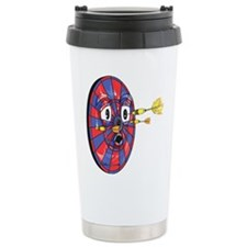 Dartie the dart board Ceramic Travel Mug