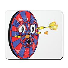 Dartie the dart board Mousepad