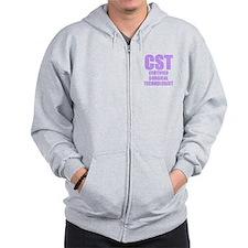 Bold CST purple Zip Hoodie