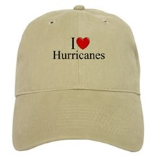 """I Love (Heart) Hurricanes"" Baseball Cap"