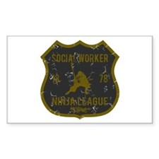 Social Worker Ninja League Rectangle Decal