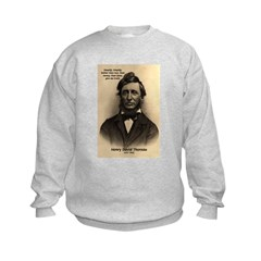 Henry David Thoreau Kids Sweatshirt