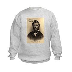 Henry David Thoreau Kids Sweatshirt