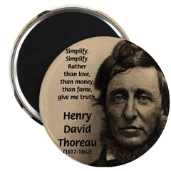 Henry David Thoreau 2.25&quot; Magnet (10 pack)