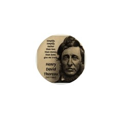 Henry David Thoreau Mini Button
