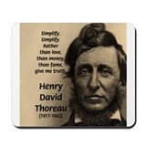 Henry David Thoreau Mousepad