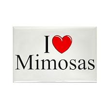 """I Love (Heart) Mimosas"" Rectangle Magnet"
