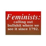 Feminists Call it Out Rectangle Magnet (10 pack)