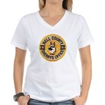 Bell County Sheriff K9 Women's V-Neck T-Shirt