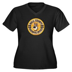 Bell County Sheriff K9 Women's Plus Size V-Neck Da