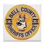 Bell County Sheriff K9 Tile Coaster