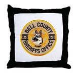 Bell County Sheriff K9 Throw Pillow