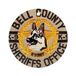 Bell County Sheriff K9 Ornament (Round)