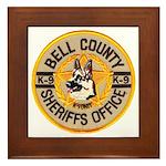Bell County Sheriff K9 Framed Tile