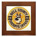 Bell County Sheriff K9 Framed Tile