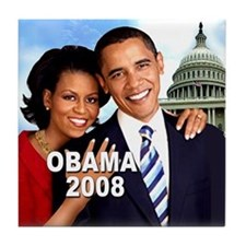 The First Couple Tile Coaster