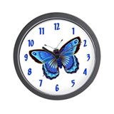BUTTERFLYBLUE Wall Clock / 10inch