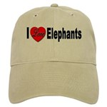 I Love Elephants Cap