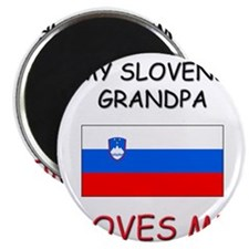 My Slovene Grandpa Loves Me Magnet