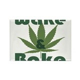 Wake and Bake Rectangle Magnet