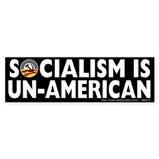 Anti-Obama Socialism is Un-American Stickers