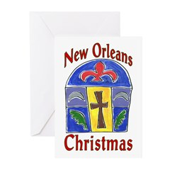 Stain Glass New OrleanS Christmas Cards ( 6)