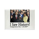 I Saw History! Rectangle Magnet (100 pack)